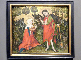 Meister des Göttinger Barfüßeraltars (Meister der Hildesheimer Magdalenenlegende): Noli me tangere (Rühr mich nicht an), um 1416