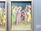 Meister der Darmstädter Passion: Christus heilt einen Blinden, um 1435