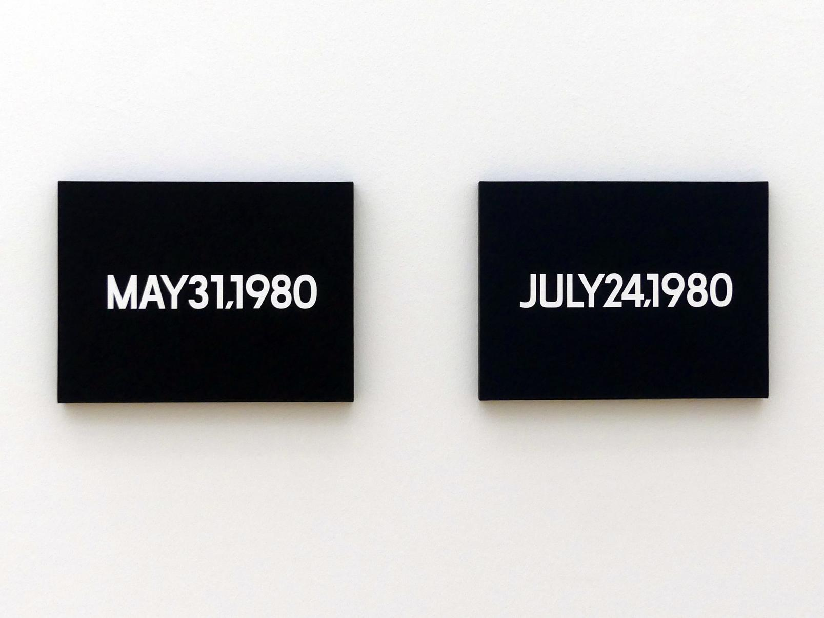 On Kawara: May 31, 1980 - 31. Mai 1980, 1980