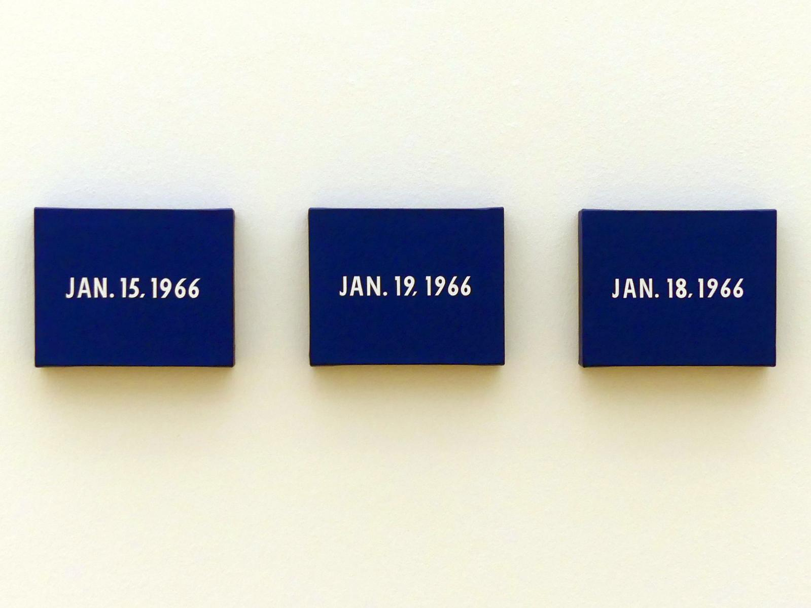 "On Kawara: Jan. 15, 1966 ""This painting itself is January 15, 1966"" - 15. Januar 1966 ""Dieses Bild ist der 15. Januar 1966"", 1966"