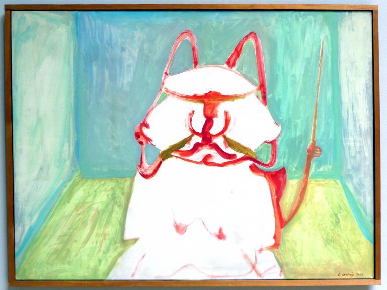 Maria Lassnig: Mein lieber Wilhelm oder Der Diktator, 1962
