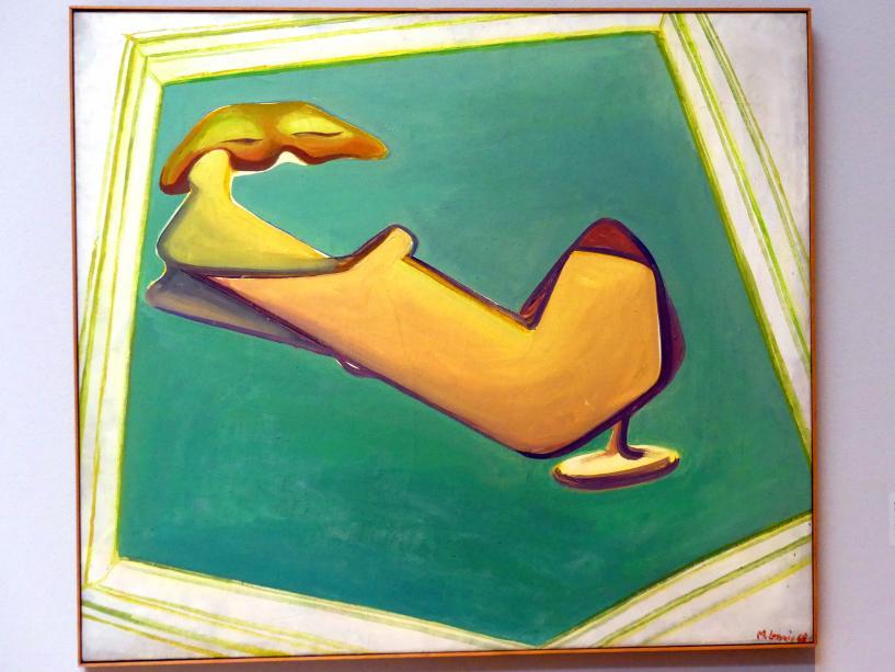 Maria Lassnig: Großes Sesselselbstporträt, 1968