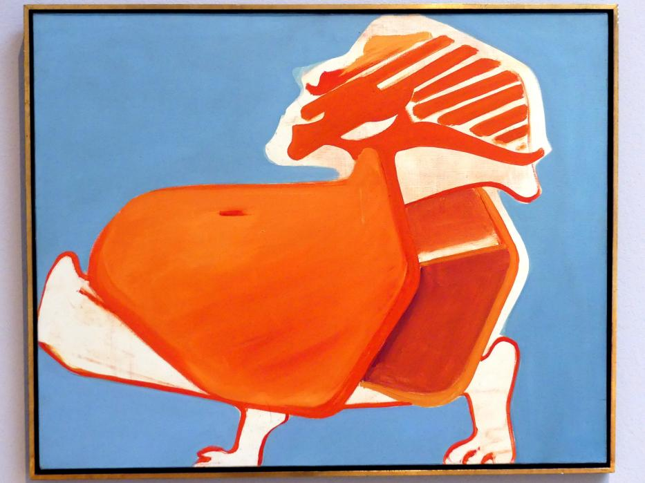 Maria Lassnig: Sesselselbstporträt, 1968