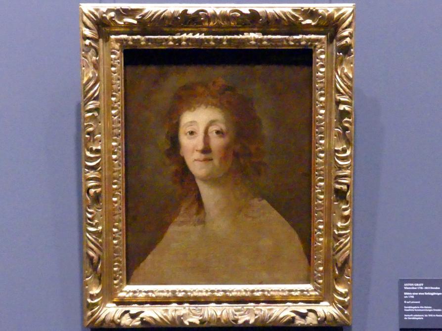 Anton Graff: Bildnis einer etwa fünfzigjährigen Dame, um 1795