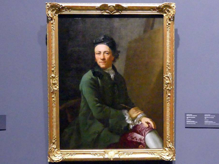 Anton Graff: Jugendliches Selbstporträt, 1765