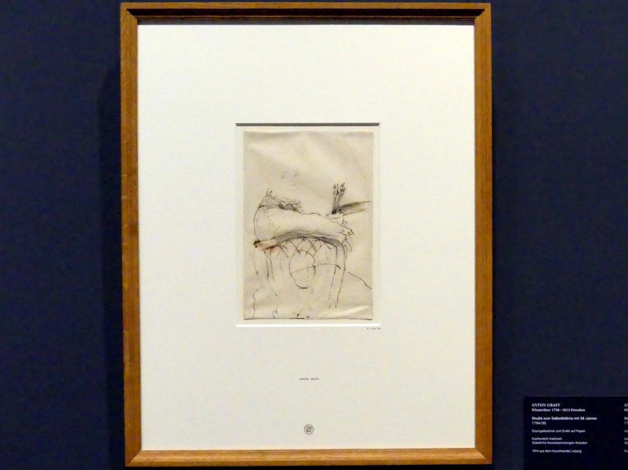 Anton Graff: Studie zum Selbstbildnis mit 58 Jahren, 1794 - 1795