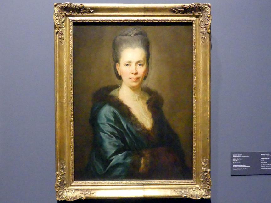 Anton Graff: Bildnis einer Dame, um 1780