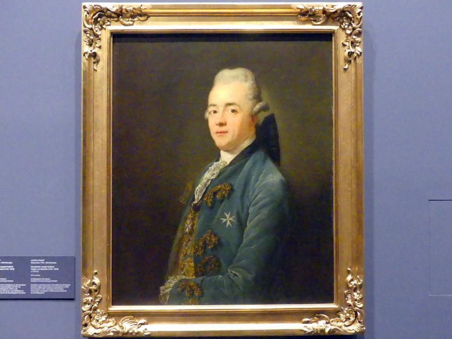 Anton Graff: Der Kammerherr Joseph Friedrich Freiherr von Racknitz (1744-1818), um 1776