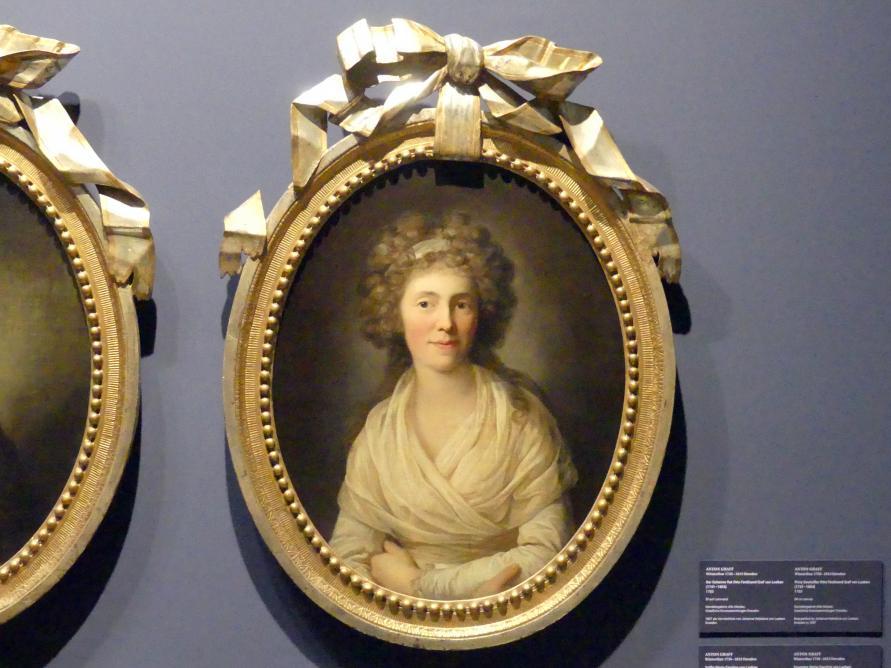 Anton Graff: Gräfin Maria Caroline von Loeben, geb. von Greiffenheim (1760-1825), 1783