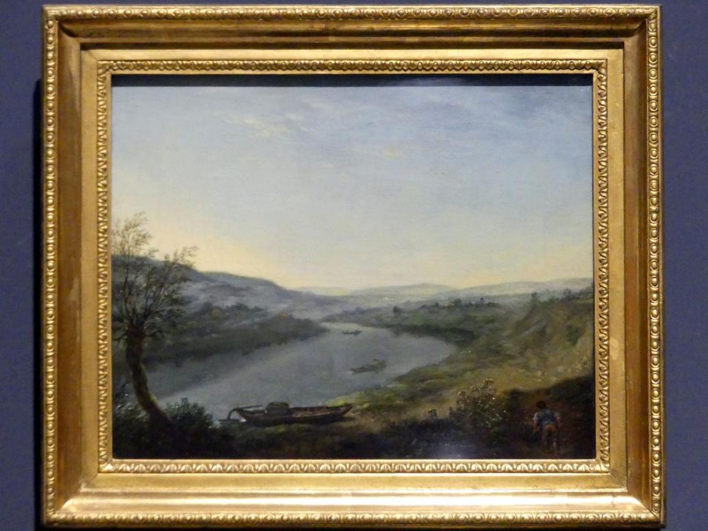 Anton Graff: Elbgegend oberhalb Dresdens bei Blasewitz am Morgen, um 1800