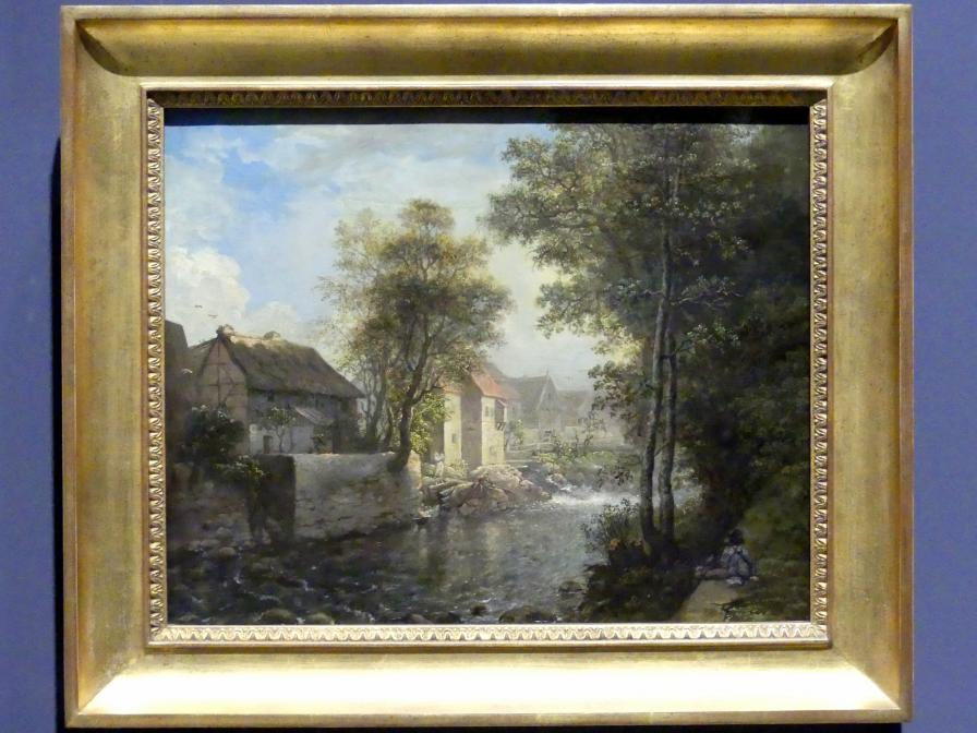 Anton Graff: Häuser an der Weißeritz in Plauen bei Dresden am Mittag, um 1800