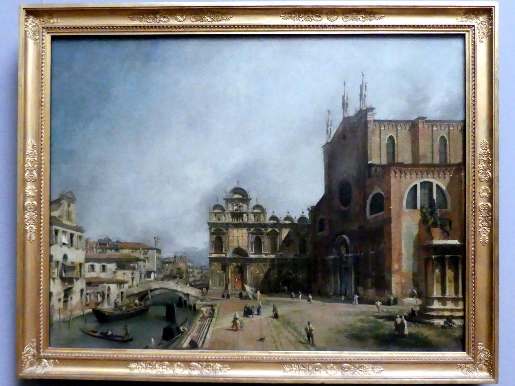 """Giovanni Antonio Canal (""""Canaletto""""): Der Platz vor Santi Giovanni e Paolo in Venedig, um 1725"""