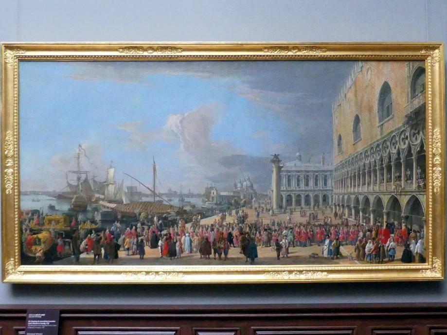 Luca Carlevarijs: Der Empfang des kaiserlichen Gesandten Graf Colloredo in Venedig, 1726