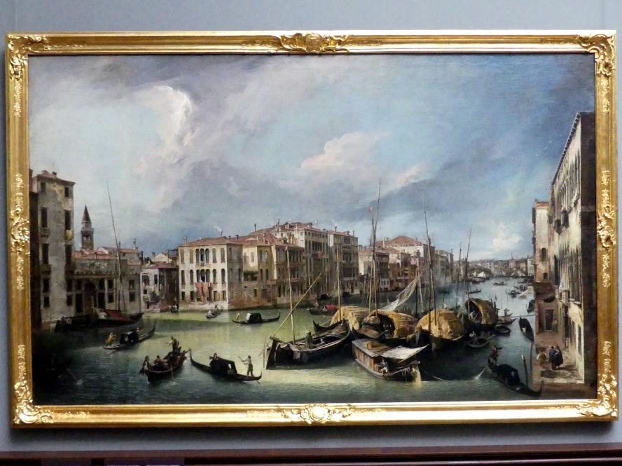 "Giovanni Antonio Canal (""Canaletto""): Der Canal Grande in Venedig mit der Rialtobrücke, 1724"