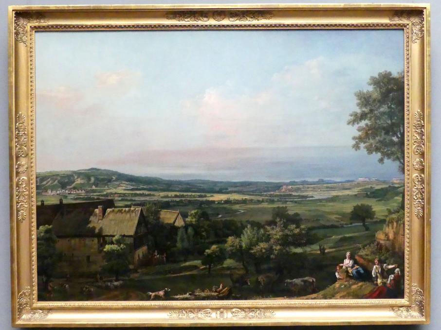 Bernardo Bellotto (Canaletto): Die Elbaue zwischen Pirna und Pillnitz, Um 1766