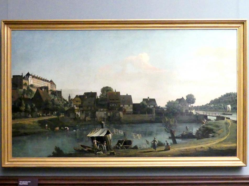Bernardo Bellotto (Canaletto): Die Schifftorvorstadt in Pirna, 1753 - 1754