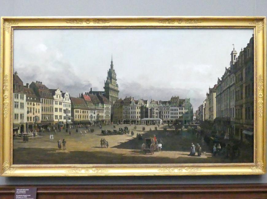 Bernardo Bellotto (Canaletto): Der Altmarkt in Dresden von der Schlossgasse aus, 1749 - 1751
