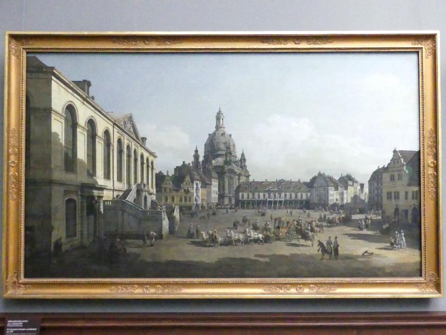 Bernardo Bellotto (Canaletto): Der Neumarkt in Dresden vom Jüdenhofe aus, 1749