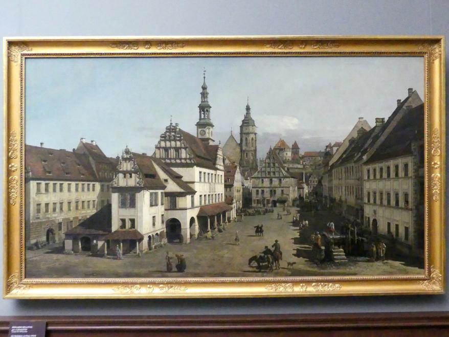 Bernardo Bellotto (Canaletto): Der Marktplatz von Pirna, 1753 - 1754