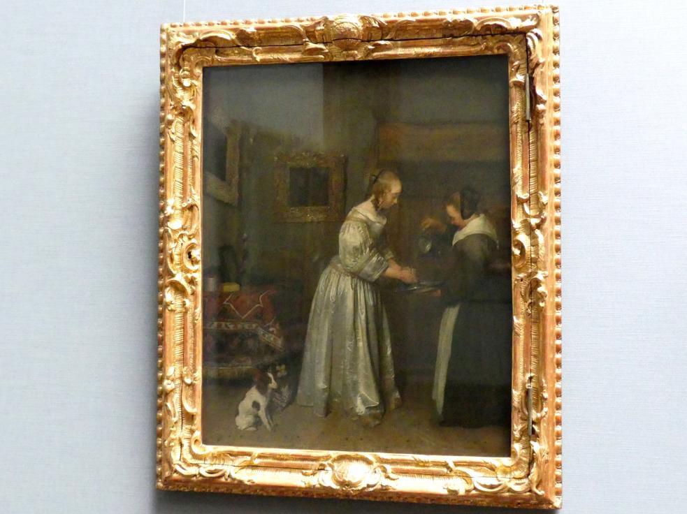 Gerard ter Borch: Eine Dame, die sich die Hände wäscht, Um 1655