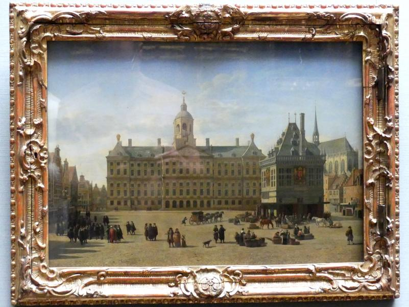 """Gerrit Adriaenszoon Berckheyde: Ansicht des """"Dam"""" zu Amsterdam, Um 1670 - 1675"""