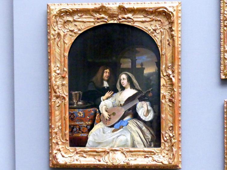 Frans van Mieris der Ältere: Bildnis des François de le Boë und seiner Frau, 1672