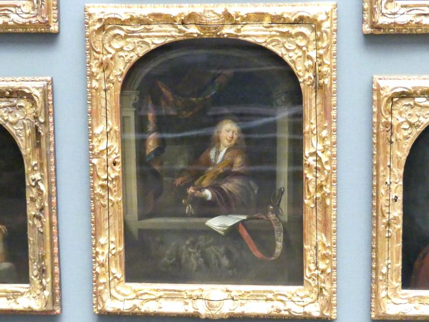 Gerard Dou: Der Geiger am Fenster, 1665