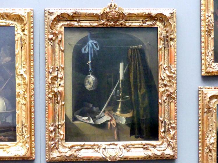 Gerard Dou (Gerrit Dou): Stillleben mit Leuchter und Taschenuhr, um 1660