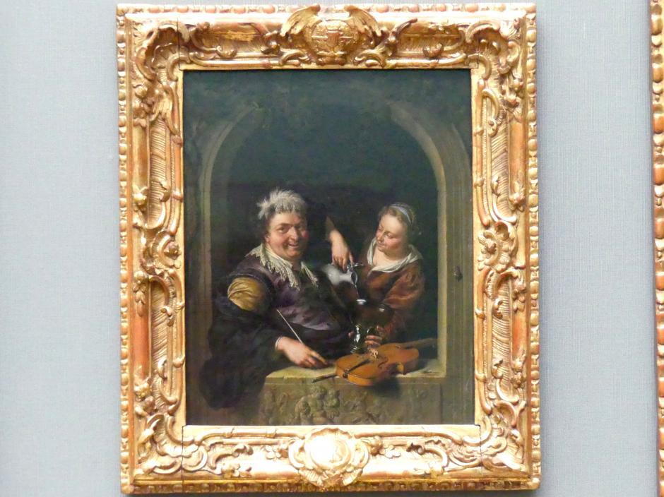 Willem van Mieris: Der lustige Zecher, 1699