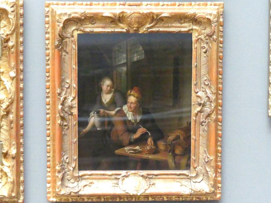 Willem van Mieris: Leiermann und Schenkmädchen, 1706