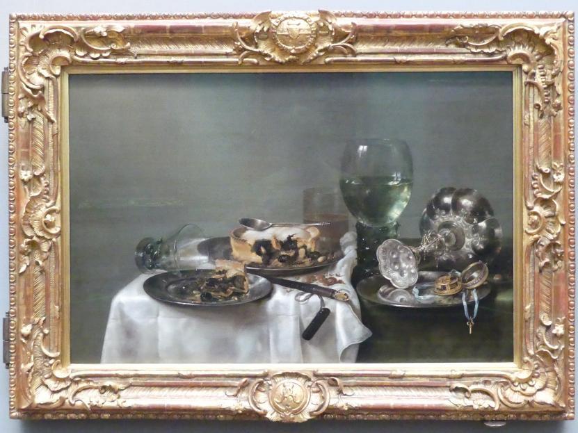 Willem Claeszoon Heda: Ein Frühstück mit einer Brombeerpastete, 1631