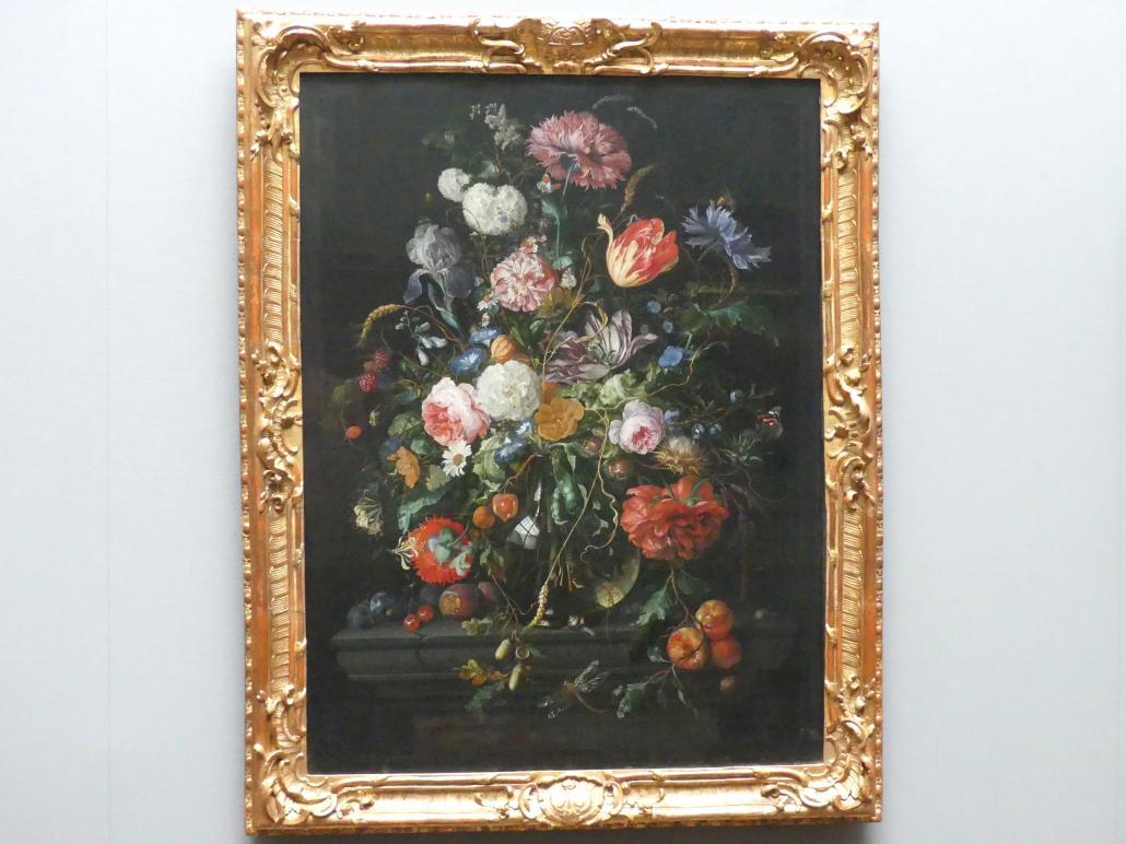 Jan Davidsz. de Heem: Früchte neben einem Blumenglas, um 1670 - 1672
