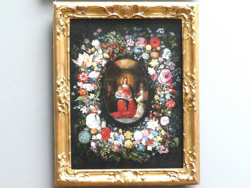 Frans Francken der Jüngere (Frans II Francken): Maria mit Kind und musizierenden Engeln in einer Blumengirlande, um 1620