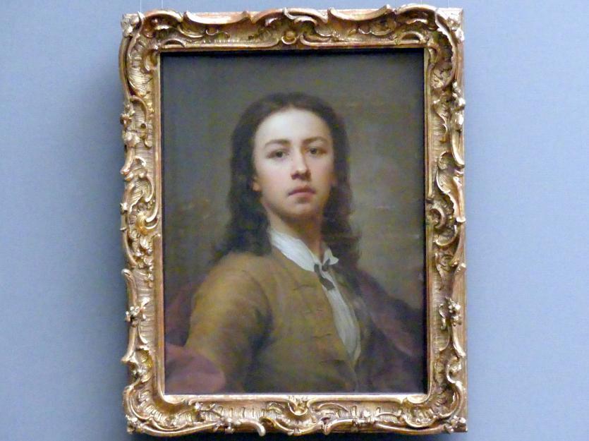 Anton Raphael Mengs: Selbstbildnis im roten Mantel, 1744 - 1745