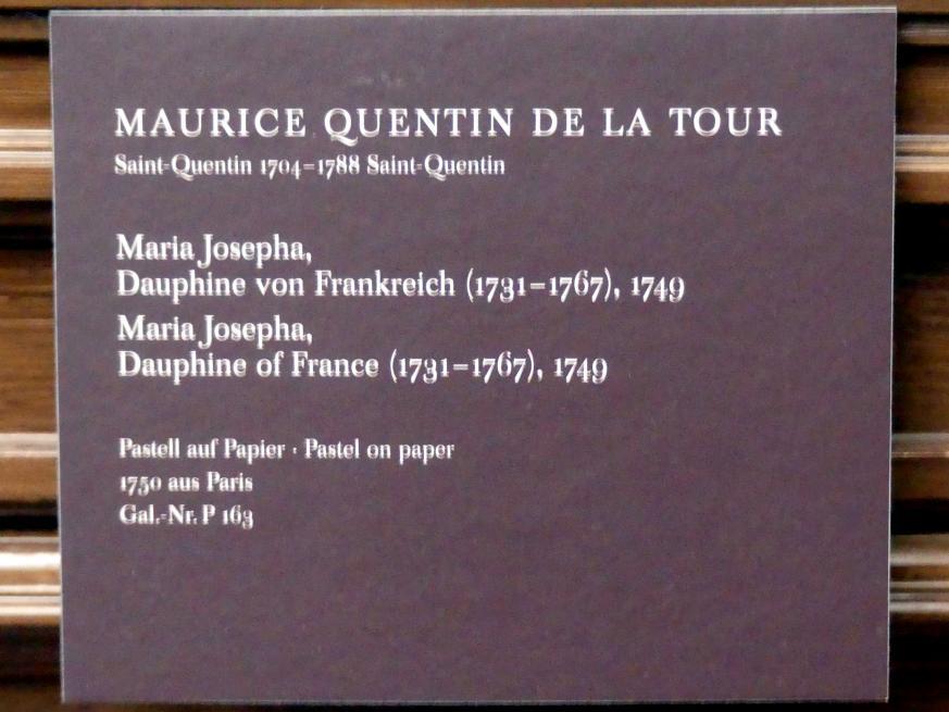 Maurice Quentin de La Tour: Maria Josepha, Dauphine von Frankreich (1731-1767), 1749, Bild 2/2