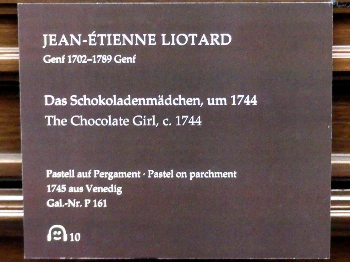 Jean-Étienne Liotard: Das Schokoladenmädchen, um 1744, Bild 2/3