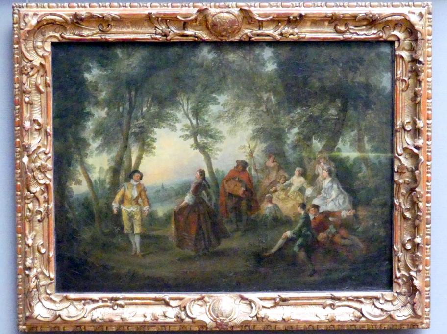 Nicolas Lancret: Ein Contretanz unter Bäumen, um 1720 - 1740