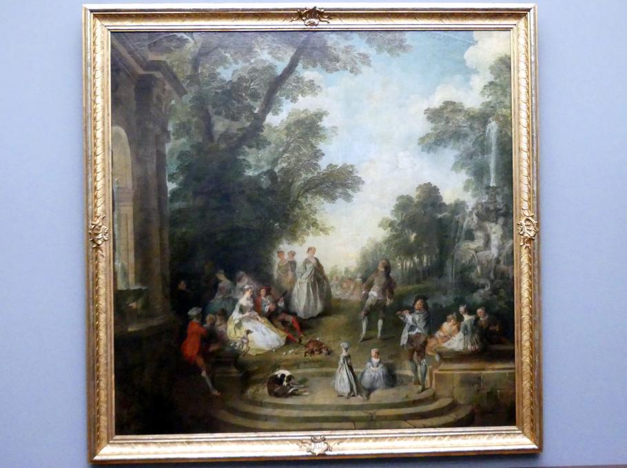 Nicolas Lancret: Tanzbelustigung im Schlosspark, um 1725