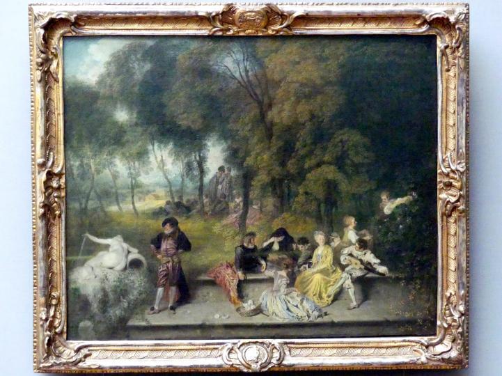 Antoine Watteau (Jean-Antoine Watteau): Gesellige Unterhaltung im Freien, um 1718 - 1719