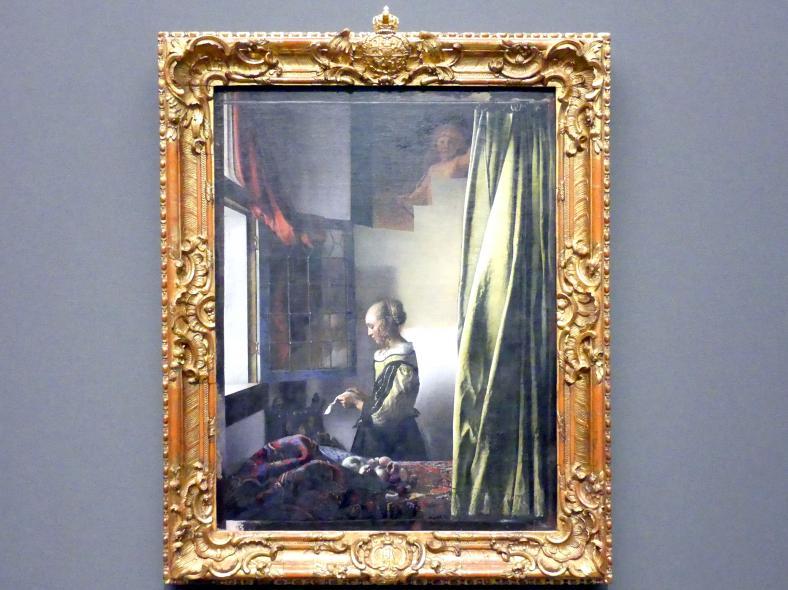 Jan Vermeer (Johannes Vermeer): Brieflesendes Mädchen am offenen Fenster, um 1657 - 1659