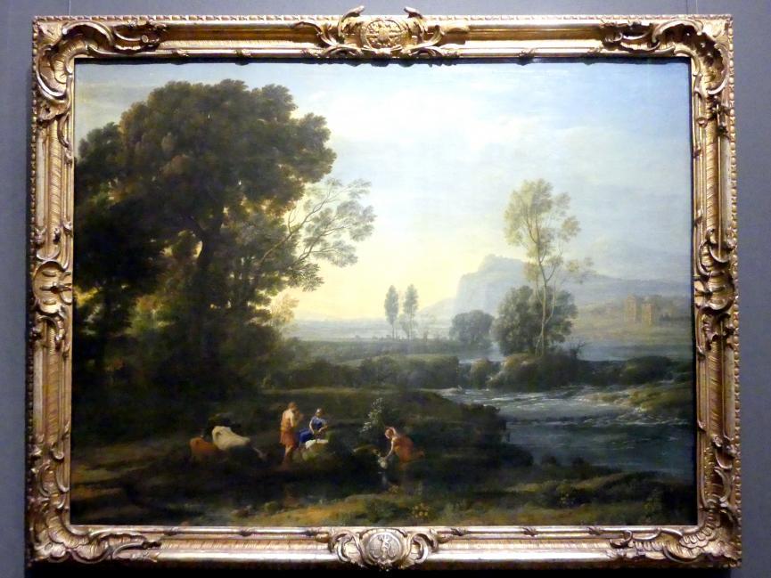Claude Lorrain (Claude Gellée): Landschaft mit der Flucht nach Ägypten, 1647