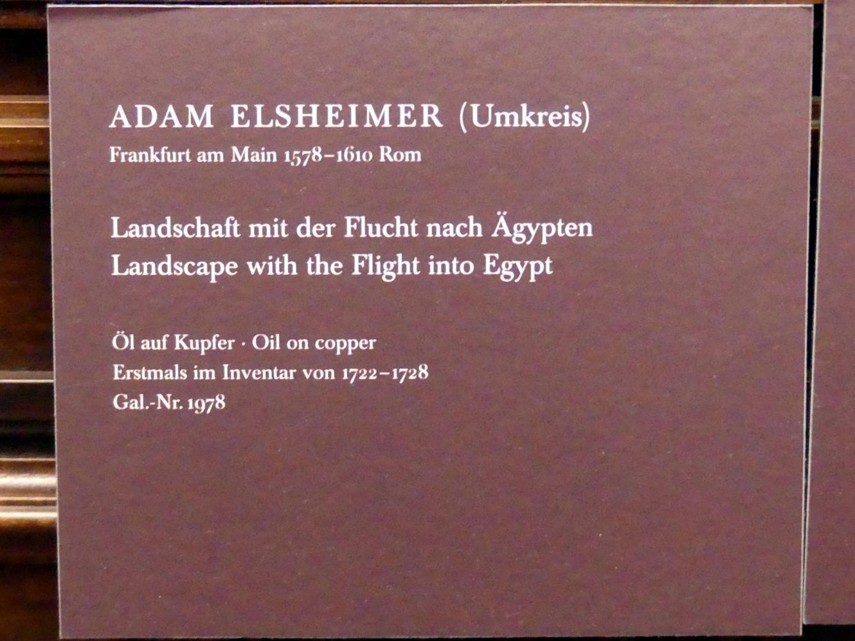 Adam Elsheimer (Umkreis): Landschaft mit der Flucht nach Ägypten, Undatiert, Bild 2/2