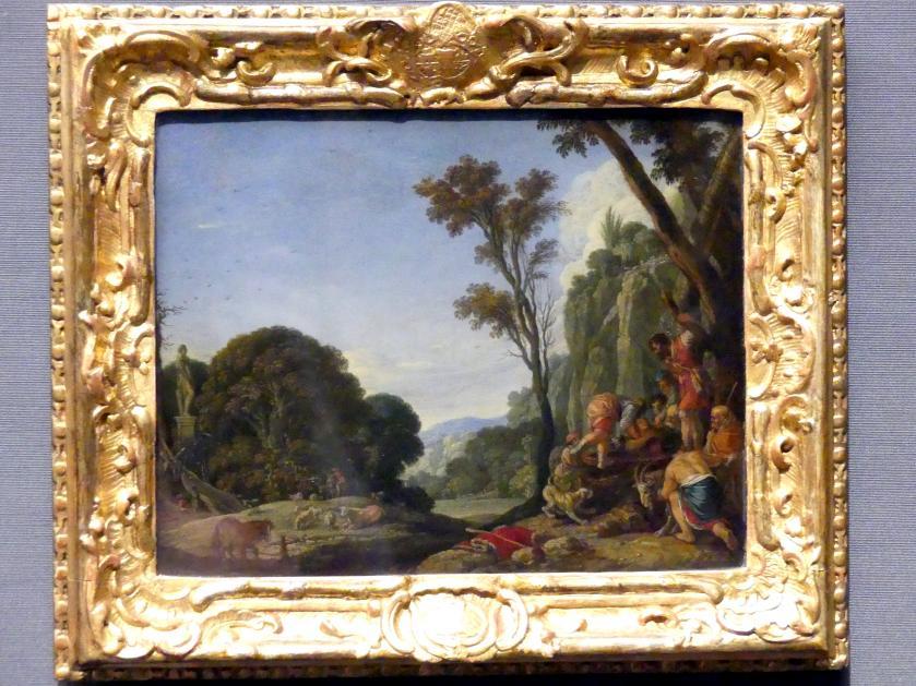 Jacob Pynas: Joseph wird von seinen Brüdern in den Brunnen geworfen, 1631