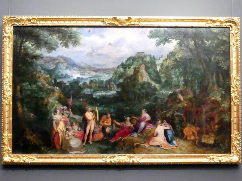 Gillis van Coninxloo: Landschaft mit dem Urteil des Midas, 1598