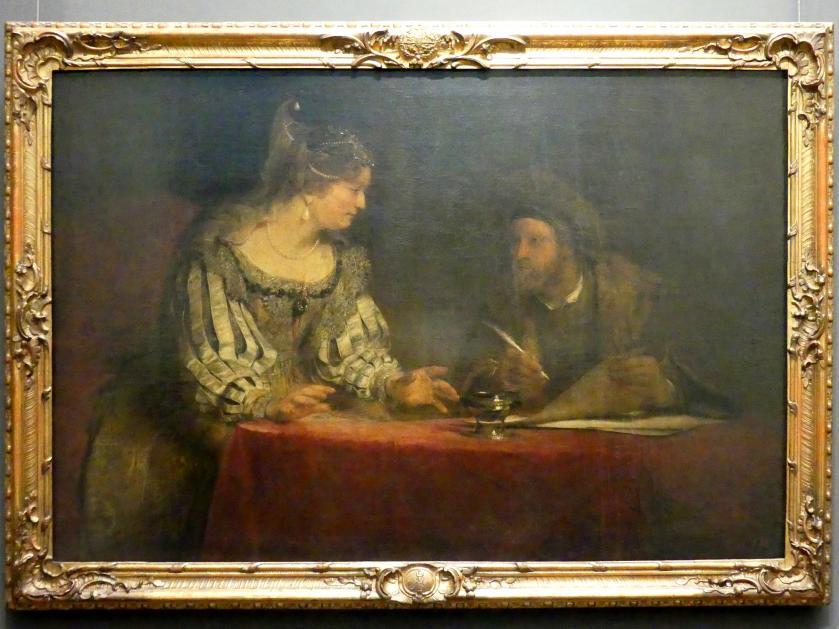 Arent de Gelder: Esther und Mardochai, Um 1685