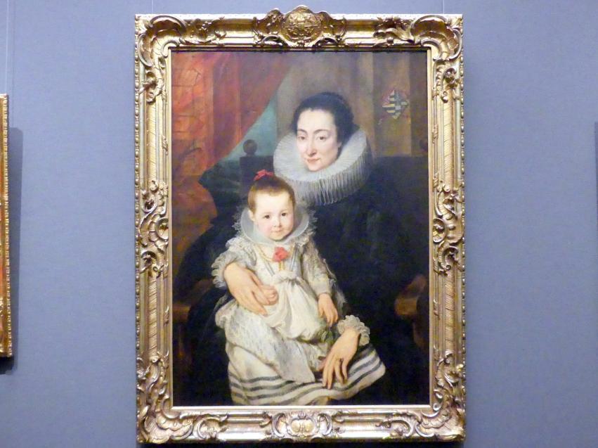 Anthonis (Anton) van Dyck: Marie Clarisse (?), Gattin des Jan Woverius, mit ihrer Tochter, um 1618 - 1620
