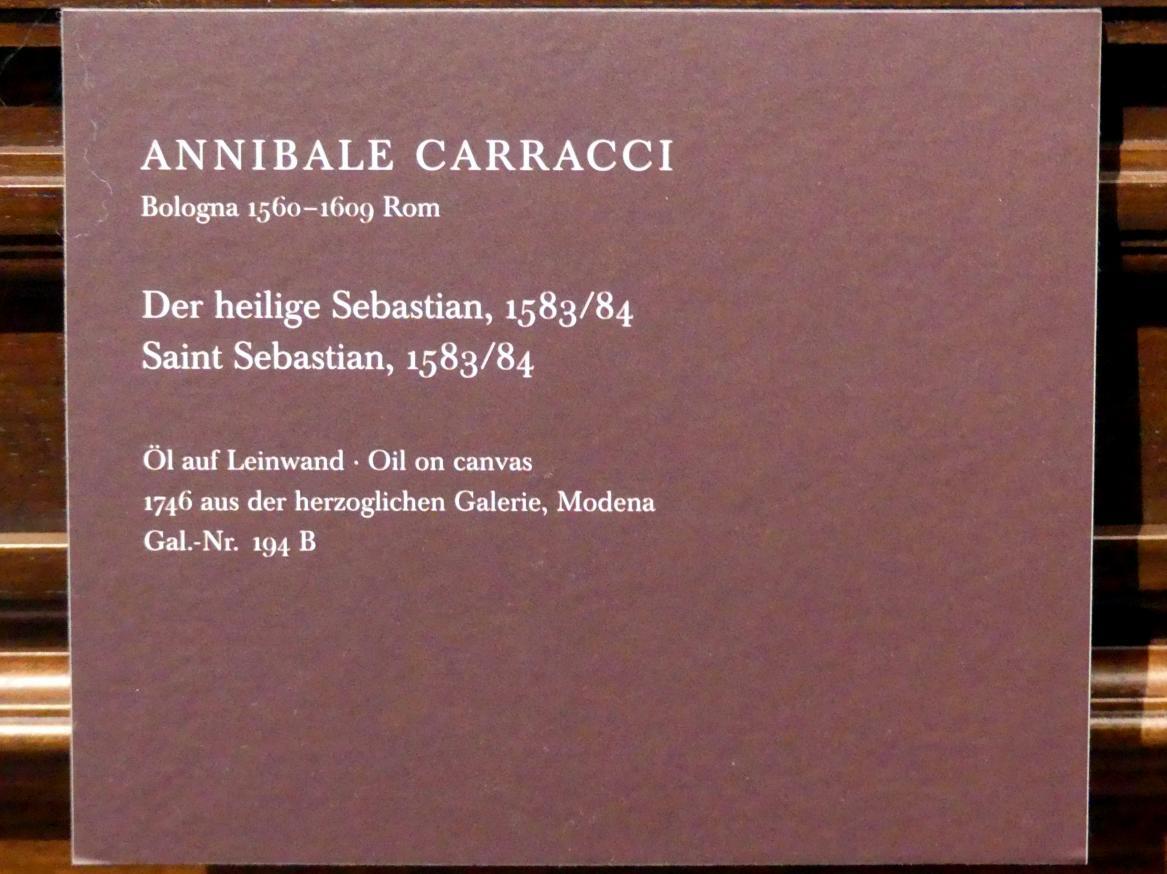 Annibale Carracci: Der heilige Sebastian, 1583 - 1584, Bild 2/2