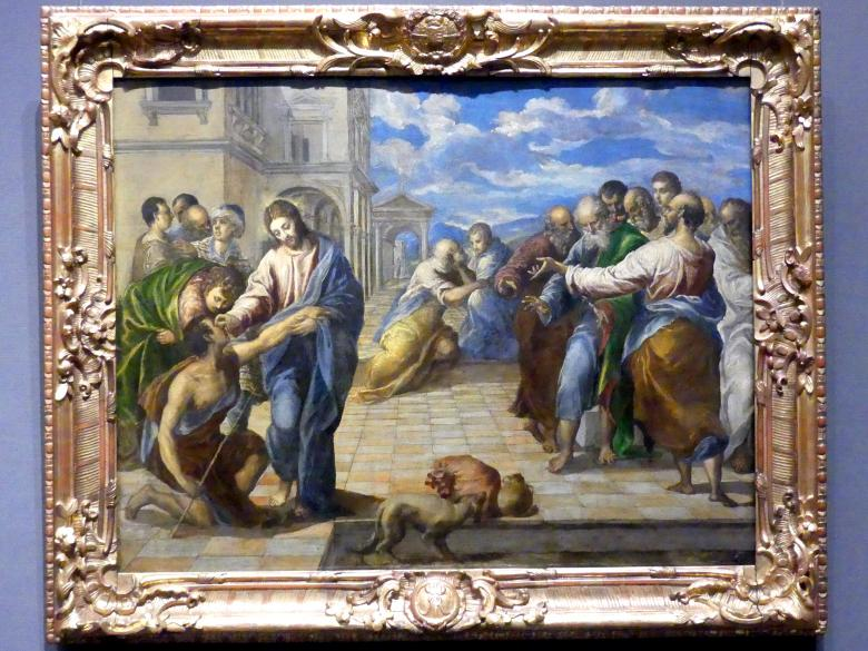 El Greco (Domínikos Theotokópoulos): Heilung des Blinden, nach 1570