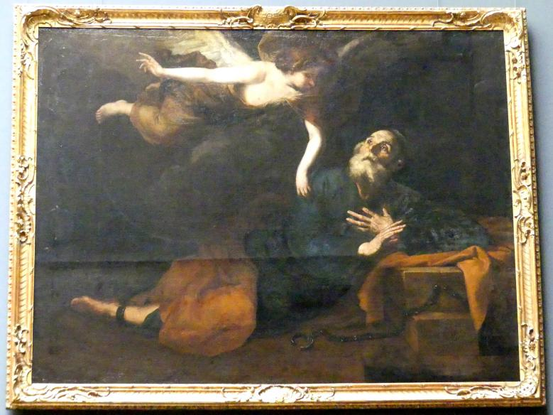 Jusepe de Ribera (Nachahmer): Befreiung Petri aus dem Gefängnis, Um 1642