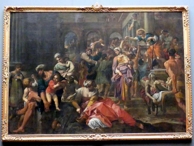 Annibale Carracci: Die Almosenspende des heiligen Rochus, 1594 - 1595